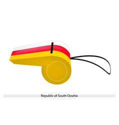 A whistle of republic of south ossetia vector