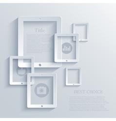 Modern computer tablet background eps 10 vector