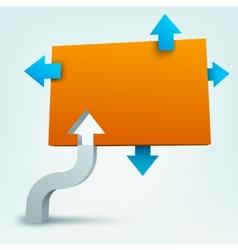 3d arrows with blank logo vector