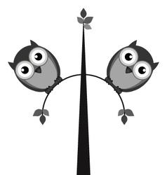 Fat owls vector