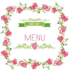 Square menu design vector