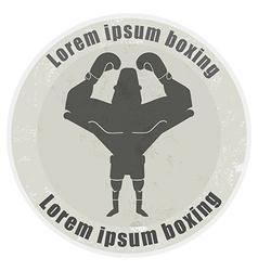 Boxer stone emblem vector