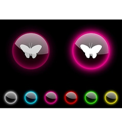Butterfly button vector