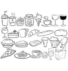Food doodles vector