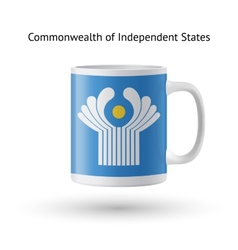 Commonwealth of independent states flag souvenir vector