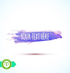 Watercolor paintbrush mark banner vector