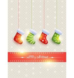 Hanging christmas socks vector