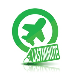 Last minute plane icon vector
