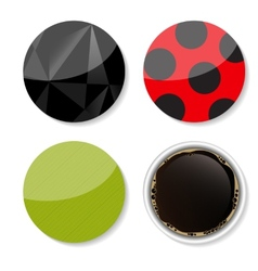 Stickers set for your business vector