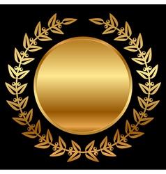 Gold laurels on black vector