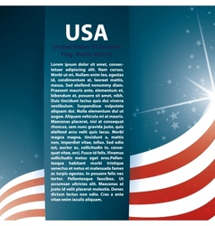 Usa flag stars and text abstract background vector