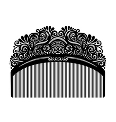 Ornate comb vector