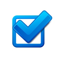 Blue check box vector