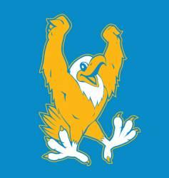 Sporty eagle logo vector