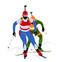 Biathlon race vector