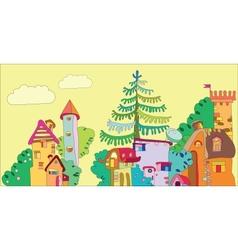 Fairytale town vector