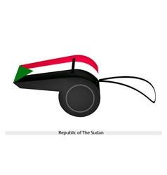 A whistle of republic of the sudan vector