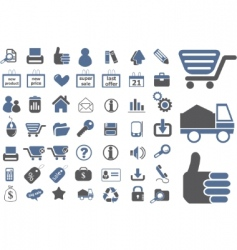 Ecommerce signs vector