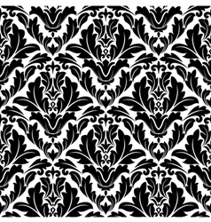 Retro seamless flourish pattern in damask style vector