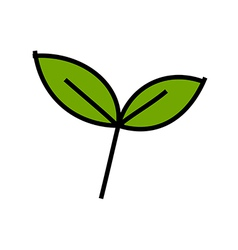 Icon sprout vector