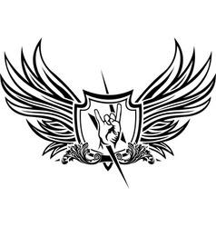 Symbol of rock n roll vector