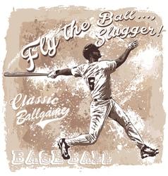 Flyball slugger baseball vector