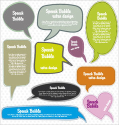 Speech bubbles retro design vector