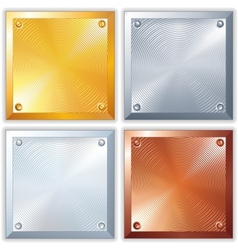 Shiny metal signs vector