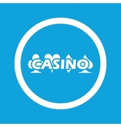 Casino sign icon vector
