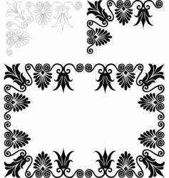 Floral frame and border patterns vector