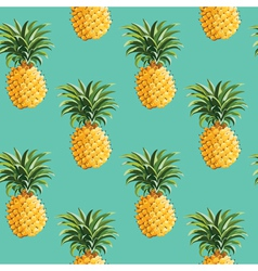Pineapples background vector
