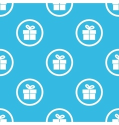 Gift sign blue pattern vector