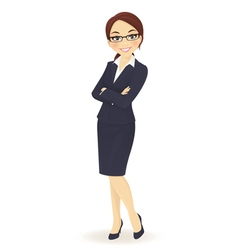 Businesswoman standing vector