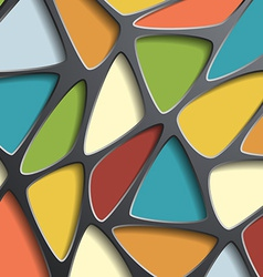Background of a mesh with colored triangular cells vector