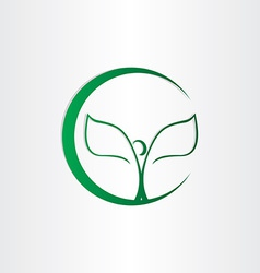 Plant man tree leafs icon vector