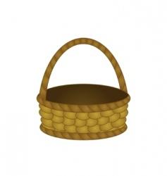 Wattled basket vector