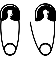 Safety pin silhouette vector