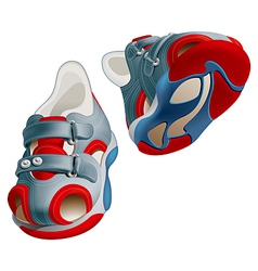 Childrens shoes vector