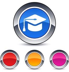 Graduation round button vector