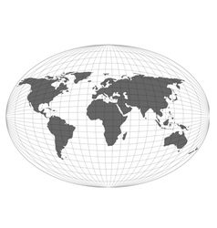 Wire globe map eps10 vector