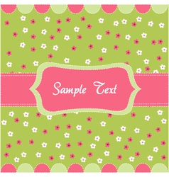 Seamless floral pattern baby card vector