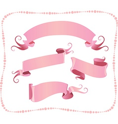 Set of ribbon banners vector