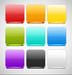 Set of colorful app icons backgrounds vector