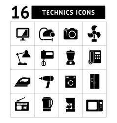 Technics icons vector