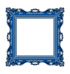 Frame old ornament vector