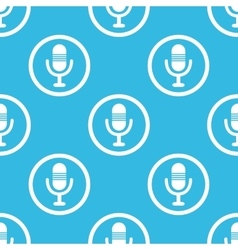 Microphone sign blue pattern vector