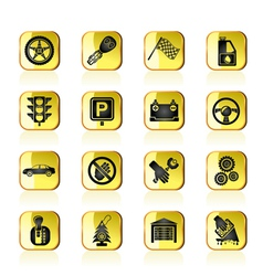Car and transportation icons vector