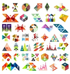 Set of infographic geometric templates - triangles vector