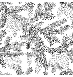Seamless pattern fur-tree vector