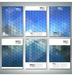 Geometric backgrounds abstract hexagonal patterns vector